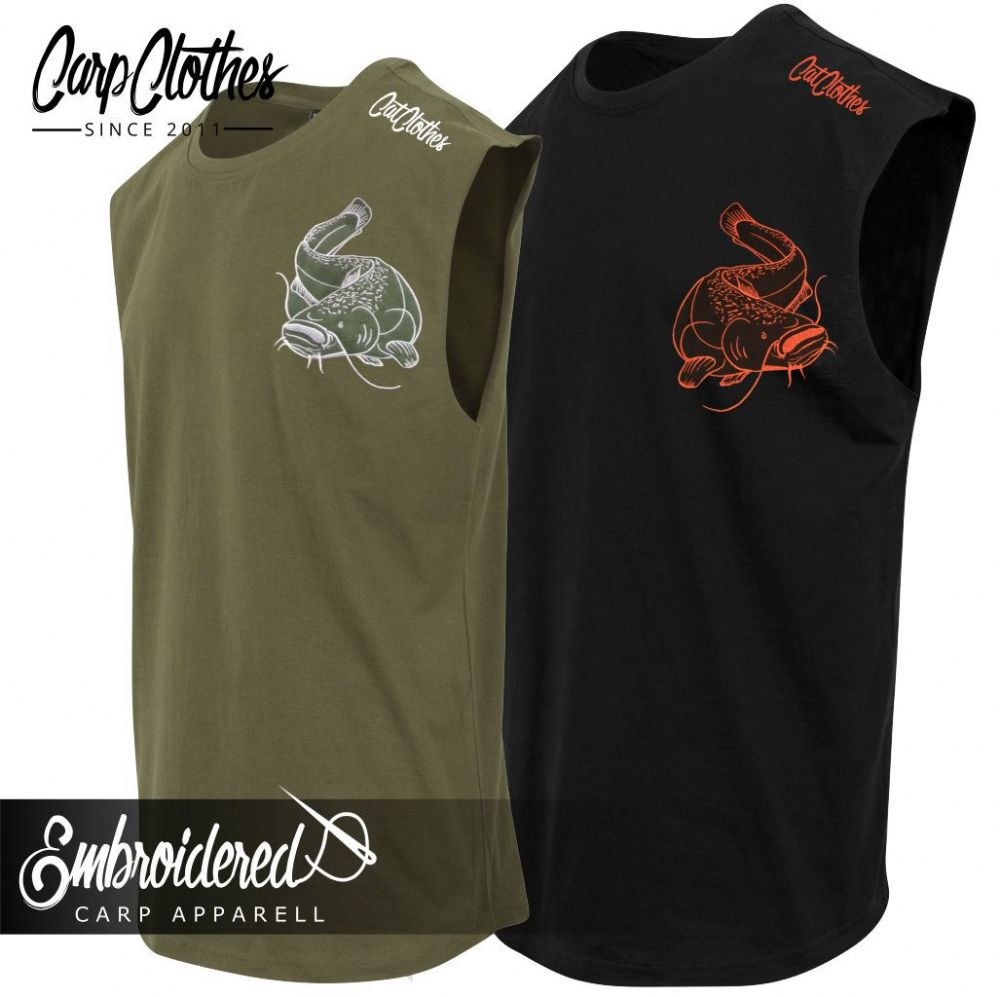 005 EMBROIDERED SLEEVELESS T-SHIRT